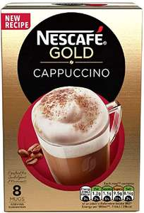 NESCAFÉ GOLD Cappuccino Coffee, 8 Sachets £1 (Minimum £15 spend + £3.99 delivery or free with 4 selected items) at Amazon Pantry