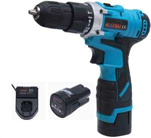 KATSU Cordless 16.8V Impact Hammer Drill with 2 Lithium Batteries - £34.99 @ Dispatched from and sold by AIM Tools Ltd on Amazon