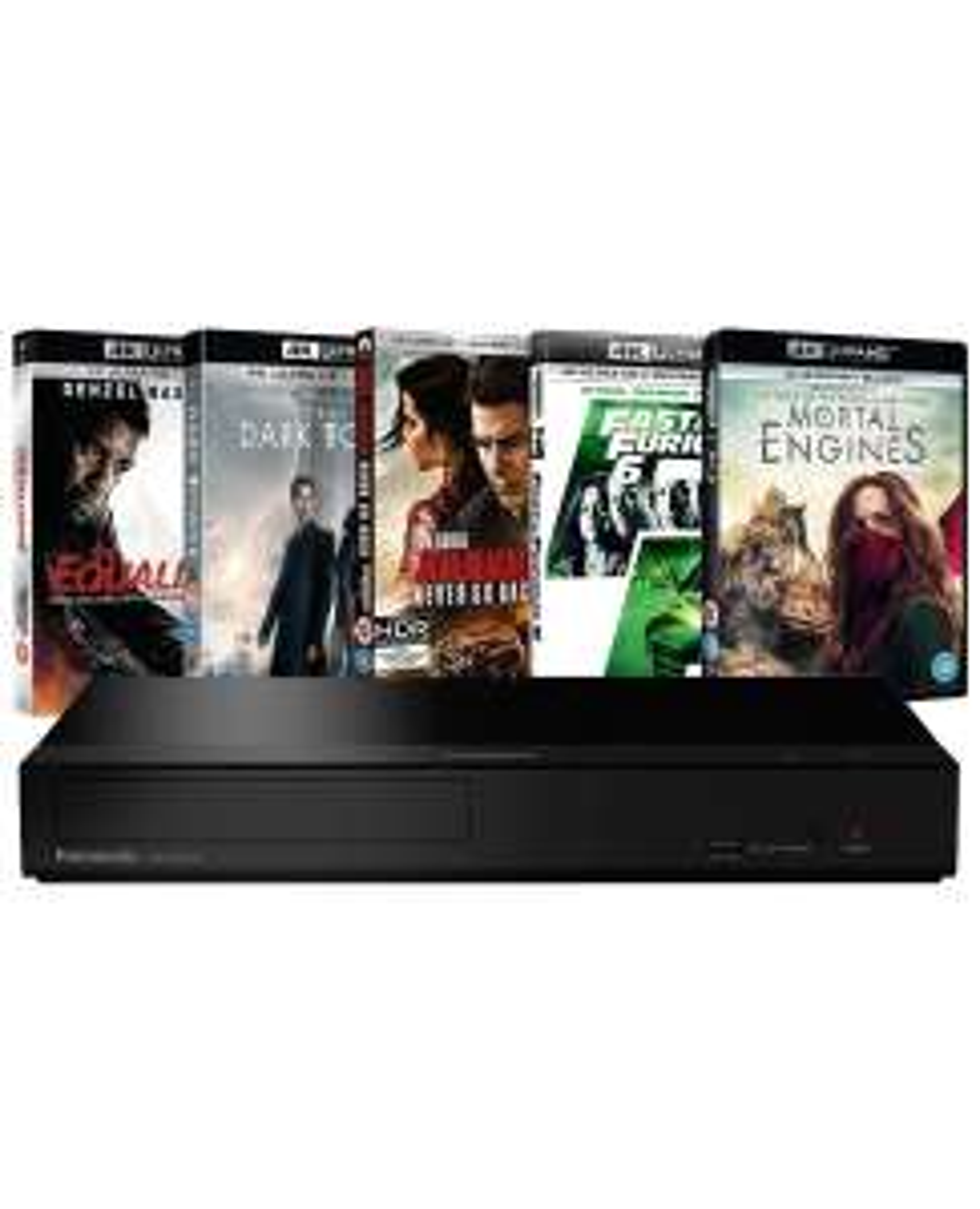 Panasonic DP-UB150EB-K: 4K Ultra HD Player & 5 4K UHD Bundle for £159.99 delivered @ Zoom