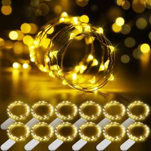 Govee 12 Waterproof Warm White DIY Fairy String Lights (12x 1m packs) £6.99 Prime / £11.48 NP using code Sold by Govee UK and FBA