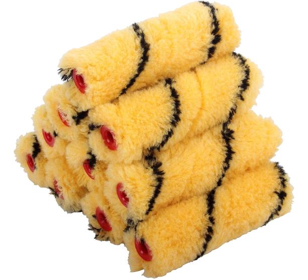 ProDec PRRE040 Tiger Medium Pile Mini Rollers (Trade Quality), Red, 4-Inch, Set of 10 Pieces - £3.40 (Prime) / £7.89 (Non Prime) @ Amazon