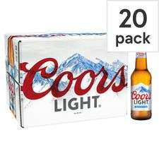 Coors Light 20 X 330Ml £11 at Tesco