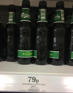 Carlsberg Danish Pilsner 500ml 3.8% - 79p instore @ Home Bargains (Hounslow)