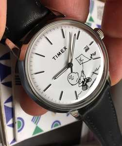Timex + Peanuts Marlin Automatic (Charlie Brown Or Snoopy), 40mm, S/Steel, Acrylic Lens Black Leather Strap 30M/50M WR - £117.50 @ Mr Porter