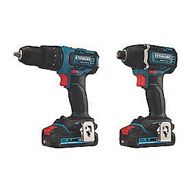 Erbauer EID18-Li / ECD18-Li-2 18V 2.0Ah Li-Ion EXT Brushless Cordless combi drill & impact driver Twin Pack + FREE SPEAKER £149.99 Screwfix