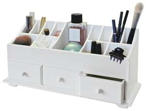 Argos Home 3 Drawer Cosmetics Caddy - White - £15 / £18.95 delivered @ Argos