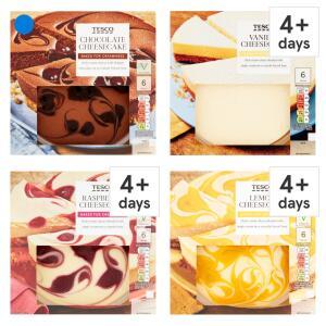Tesco Vanilla, Raspberry, Lemon or Chocolate Cheesecake 540g - £2 @ Tesco