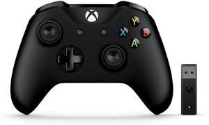 Microsoft Xbox Black Controller, with Wireless Adapter for Windows PC - £45.99 @ Amazon