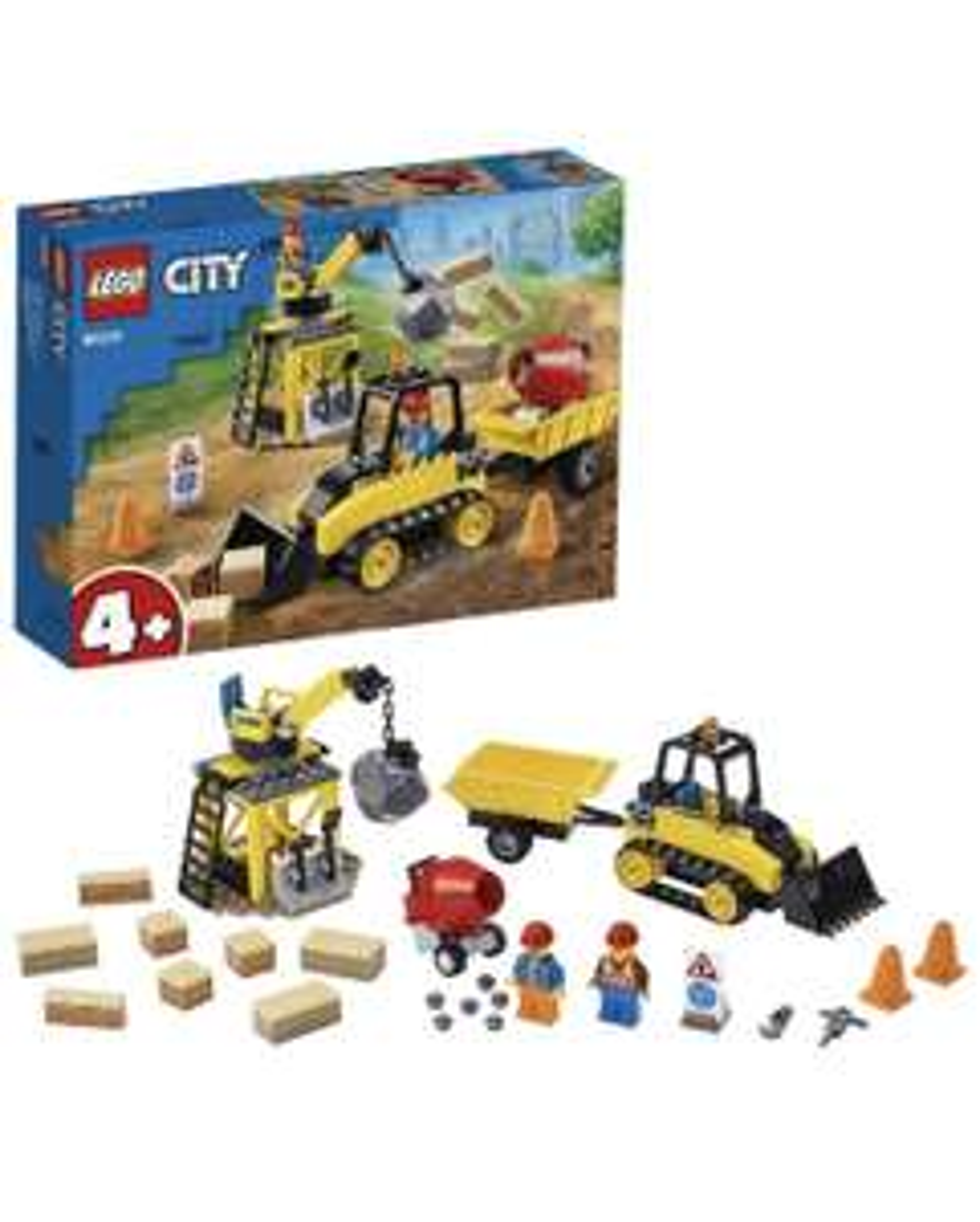 LEGO 60252 City Construction Bulldozer Toy with Starter Brick and Crane £12 (Prime) / £16.49 (non Prime) at Amazon