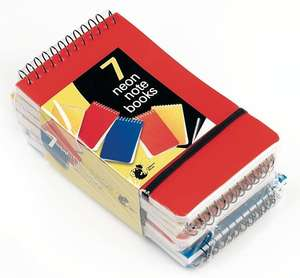 Neon Notebooks small 7pk by Chiltern Wove £2.50 delivered @ Amazon and Sold and shipped b y1ABOVE
