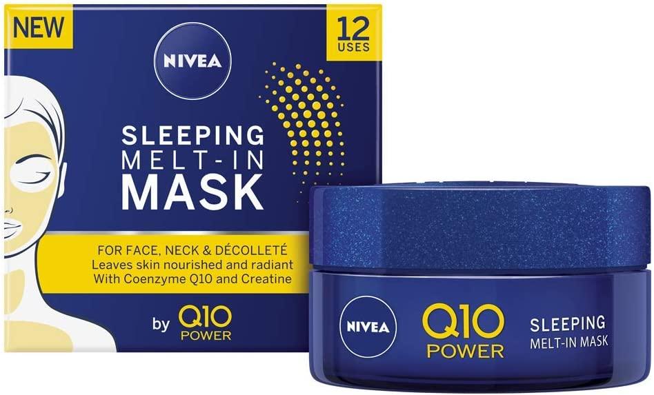 NIVEA Q10 Power Sleeping Melt-In Anti-Ageing Face Mask (50ml) £5.45 (Prime) + £4.49 (non Prime) at Amazon