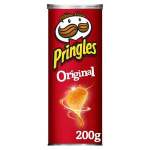 Pringles 200G All Flavours/Varieties - £1.25 @ Tesco in store and online