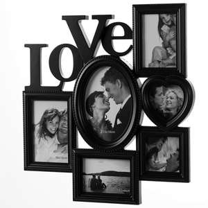 """Picture Frame """"LOVE"""" for 6 Pictures - Black £13.95 delivered @ deubaxxl"""