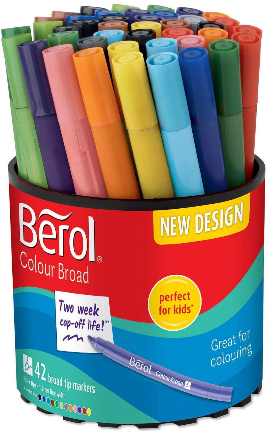 42 Berol Felt Tip Colouring Pens, Broad Point £10.46 at Amazon Prime / £14.95 Non Prime