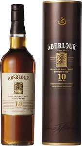 Aberlour 10 Year Old Single Malt Scotch Whisky, 70 cl (Double Cask Matured) £25 at Amazon