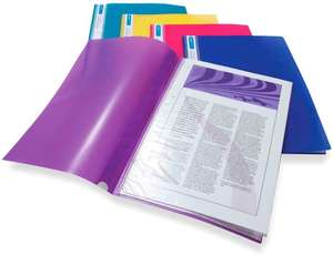 Rapesco 0919 A4 Project Display Book 20 Pockets, Assorted Bright Colours - Pack of 10 £12.86 Amazon Prime / £17.35 Non Prime