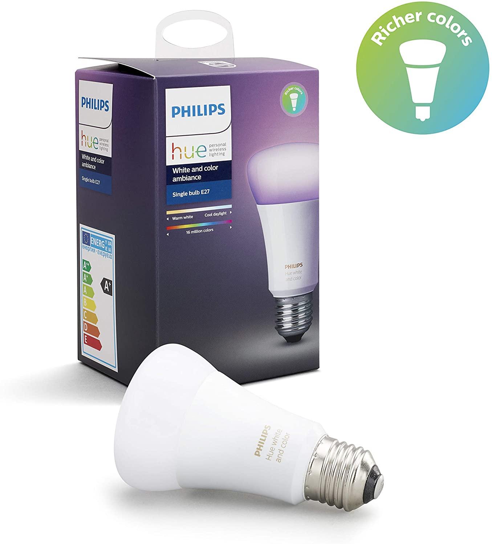 Philips Hue Ambiance E27 Bulb White and Colour (Gen 3) £21.97 Amazon