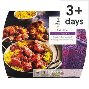 Tesco Meal For One Chicken Jalfrezi & Rice 550G / Tesco Chicken Tikka Masala Meal For One 550G £1.75 @ Tesco
