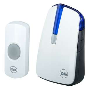 Yale Wireless Doorbell 32 Chimes 100M Range battery powered + 2 Year Guarantee - £9.99 (Possibly £8.50 with offer) @ Yale_Official eBay