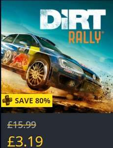 Dirt Rally £3.19 / Wreckfest £18.84 (with Shopto credit) @ PSN