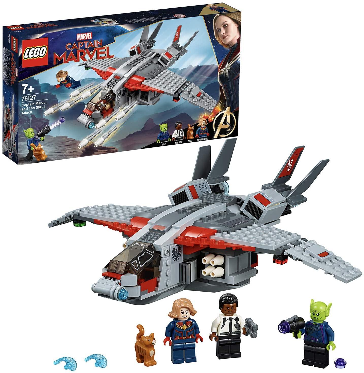 LEGO 76127 Captain Marvel and The Skrull Attack Building Kit £22.70 delivered @ Argos