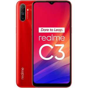 Realme C3 Red 5000mAh 64GB 3GB Smartphone - £122 / £117 With Fee Free Card @ Amazon Spain
