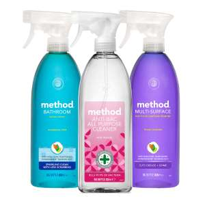 Method Mixed Pack Spray (3 x 828ml) £7.29 (+ £5.99 Delivery) at Costco