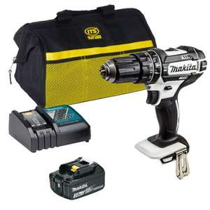 Makita DHP482 LXT 18V combi hammer drill, fast charger, tool bag and 3ah battery £100.99 delivered @ ITS