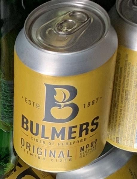 Bulmers Original 330ml Cans 59p @ Home Bargains (Edenbridge)
