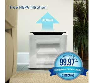 HoMedics True HEPA Air Purifier Eliminates 99.97% of Allergens, Germs, Bacteria & Viruses, Relief From Allergies & Asthma - £37.97 @ Currys