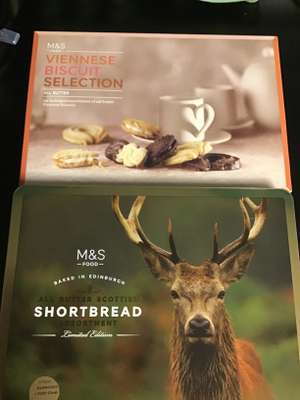 M&S boxes of biscuits reduced to £2.50 instore