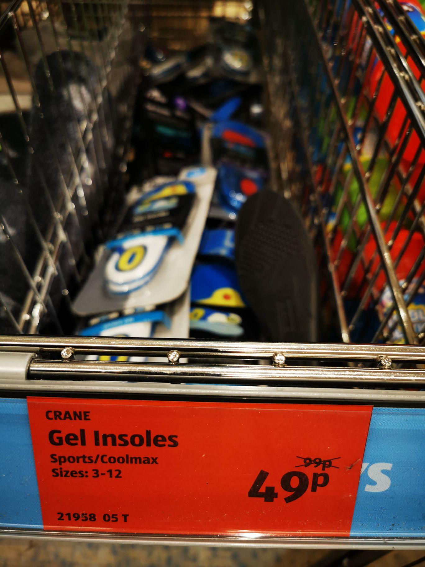 Crane gel insoles £0.49 at Aldi, Swindon, Wiltshire
