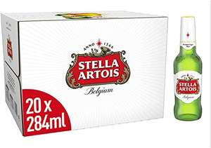 Stella Artois Premium Lager Beer Bottles, 20 x 284 ml £10 (min £15 spend +£3.99 delivery or free with 4 selected items) at Amazon Pantry