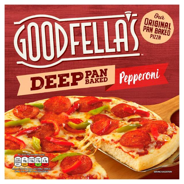 Goodfella's Deep Pan Baked Loaded Cheese or Pepperoni Pizza 417g £1.12 @ Sainsbury's