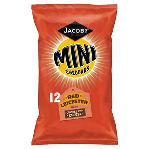 Jacob's Mini Cheddars Red Leicester 12x25g or Jacob's Mini Cheddars Original Crisps 12x25g £1.50 / Cheerios 300g £1 @ Sainsbury's