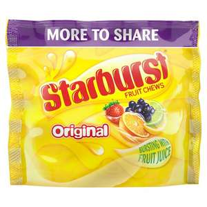 Starburst Original 350g fruit chews pouch 38p at Morrisons in Berwick-upon-Tweed