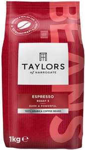 Taylors of Harrogate Espresso Beans, 1kg (Pack of 3) - £32.12 / £30.51 (S&S) (Potential £22.48 1st time S&S) @ Amazon