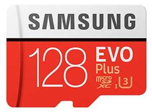 Samsung EVO Plus 128GB microSDXC UHS-I U3 100MB/s read ,90MB/s Write Memory Card + Adapter for £16.99 Delivered @ Base