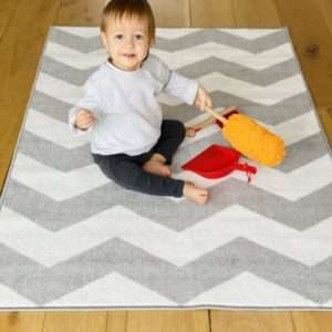 Nursery Rug 100 x 150cm with Latex Backing (Tightly Woven Fabric; Hard-Wearing & Easy Wipe Clean) £9.99 delivered @ The Gift & Gadget Store