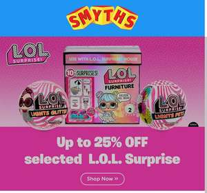 Up to 25% OFF selected L.O.L. Surprise at Smyths Toys