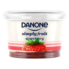 450g Pot, Danone Simply Fruit Strawberry Yogurt or Danone Simply Fruit & Veg Mango Carrot Banana Yogurt 69p @ Heron Foods (Abbey Hulton)