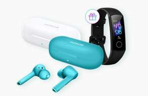Honor Magic Earbuds TWS Headphones Blue + Free Honor Band 5 Fitness Tracker - £84.99 With Coupon / £80 VIP @ Honor UK