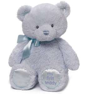 Gund My First Teddy Blue £4.99 + Free delivery @ Bargainmax