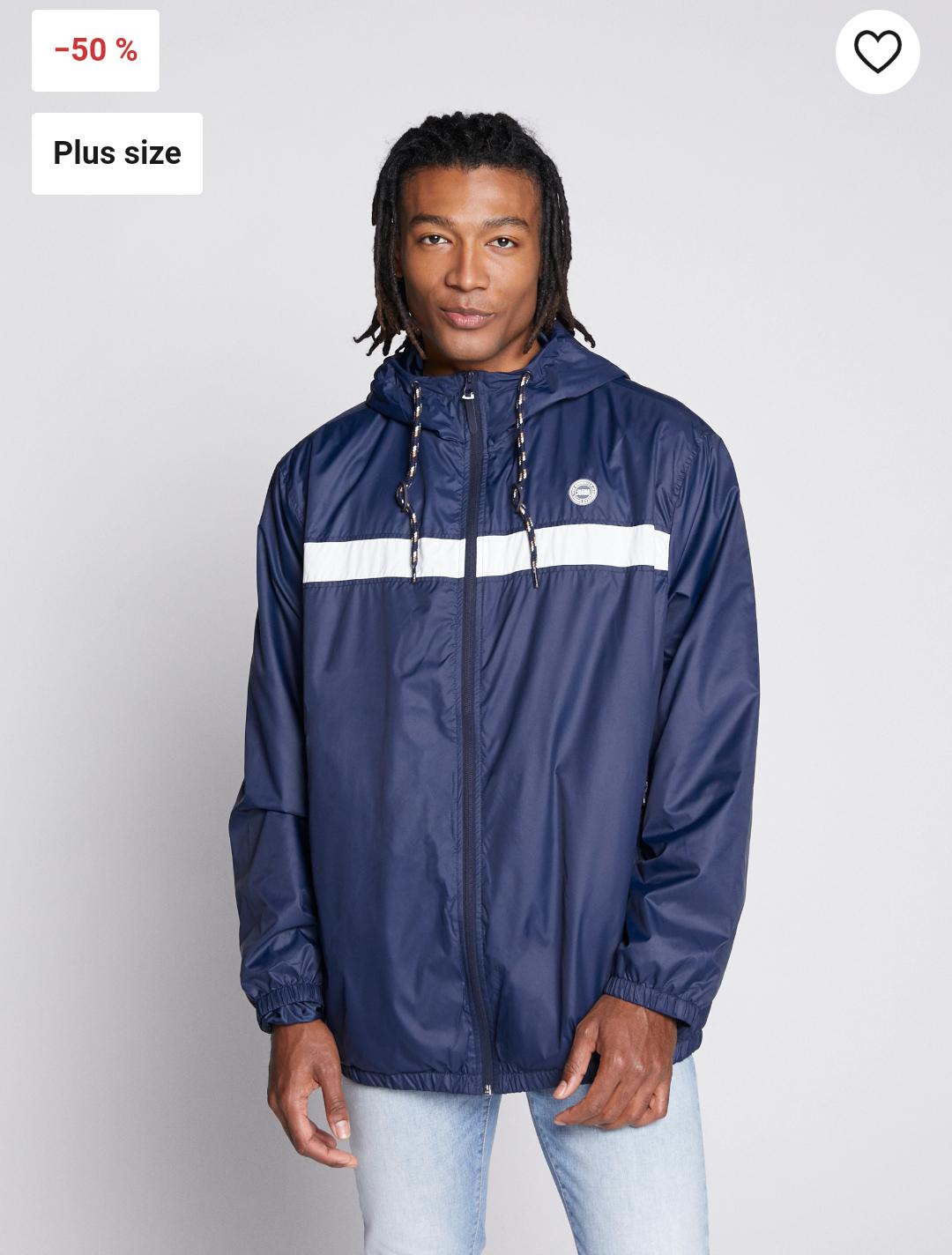Jack & Jones Jorcott light summer jacket Now £22 size 3XL, 4XL, 5XL free delivery @ Zalando