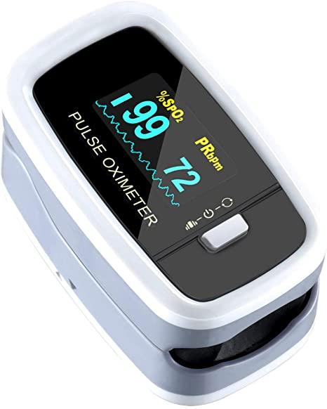 OLED Digital Finger Pulse Oximeter, Blood Oxygen Sat Level & Heart Rate Monitor - £15.99 (+£4.49 NP) - Sold by MorShine EU / FBA