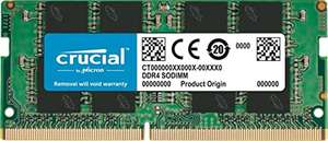 Crucial 16GB DDR4, 2666 MT/s, SODIMM Laptop Memory, £54.99 at Amazon