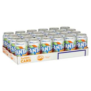 Fanta Zero Orange / Dr Pepper Zero 24 x 330ml - £6.49 @ Iceland (Min Basket Value Applies)