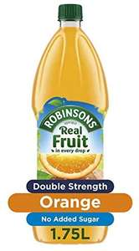 Robinsons Fruit Squash - Double Concentration - Orange - 1.75 Litre - only £1 @ Amazon Pantry (£15 min + £3.99 del)
