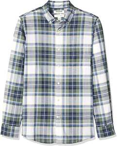 Goodthreads Men's Long-Sleeve Plaid Shirt only £2.42 (Size M only) +£4.49 Non-Prime @ Amazon
