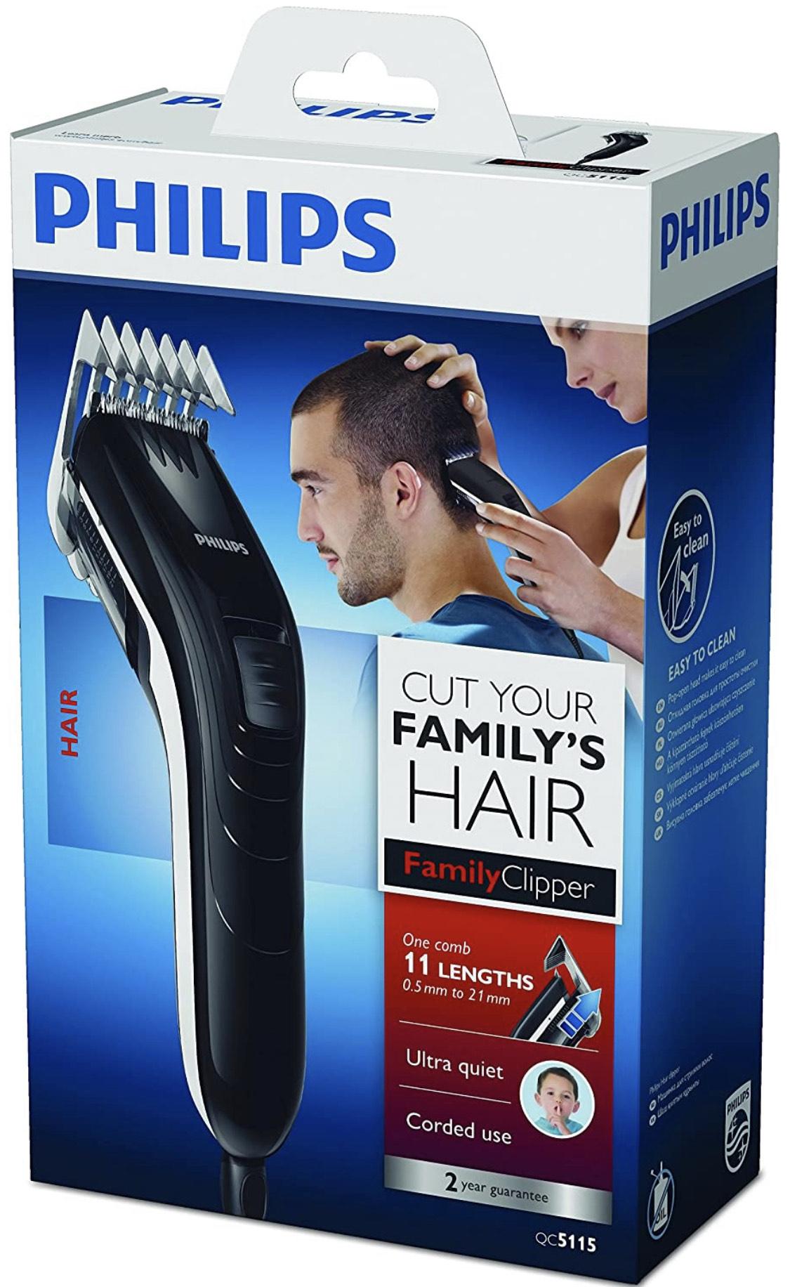 Philips Series 3000 Hair Trimmer 11 Lengths QC5115/15 Black £19.74 + £4.49 NP @ Amazon